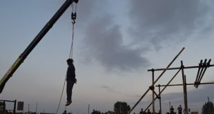 حقوق بشر-ایران- اعدام یک جوان در ملاء عام در قائمشهر+تصاویر