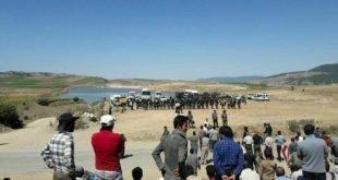 ایران -درگیری نیروهای یگان ویژه با مردم گالپوش بر سر انتقال آب+فیلم