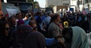 گزارش تصویری از تجمع خشمگینانه کلیه بازنشستگان کشوری مقابل نهاد ریاست جمهوری