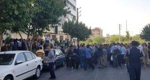 اعتراض صدها تن از کارگزاران مخابرات روستایی سراسر کشور مقابل شرکت مخابرات ایران