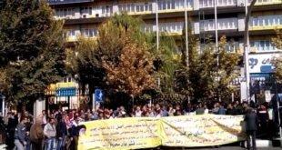 ایران - تجمع اعتراضی پرسنل شرکت حمل و نقل خلیج فارس در تهران
