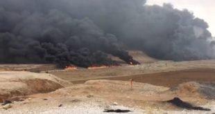 ایران - آتش سوزی مهیب خط لوله نفت در حوالی گچساران +فیلم