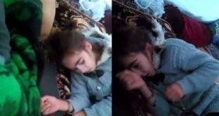 فیلمی تکان دهنده و دردناک از تشنج دختر بچه زلزله زده براثر سرما