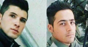 مراسم خاکسپاری دو کولبر جوان که بدست نیروی انتظامی به قتل رسیدند