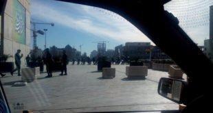 صفوف به هم پیوسته یگانهای ضد شورش با تجهیزات کامل در مشهد + فیلم