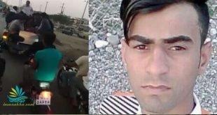 تدفین پیکر حسین ملاحی توسط جوانان موتور سوار+ فیلم