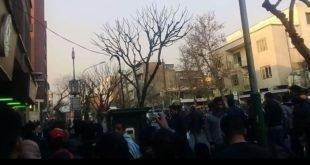 گزارشی از تظاهرات سراسری شهرهای مختلف در عصر روز دوشنبه ۱۱+فیلم