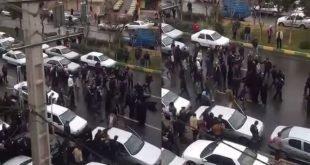 زیر گرفتن یکی از زنان معترض مالباخته توسط ماشین نیروی انتظامی + فیلم