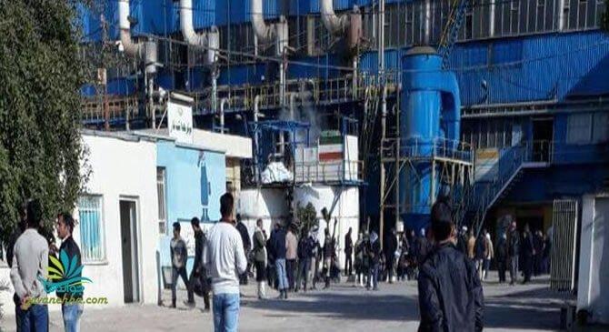 اعتصاب کارگران شرکت نیشکر هفتتپه و بستن دربهای ورود و خروج و مداخله نیروی انتظامی