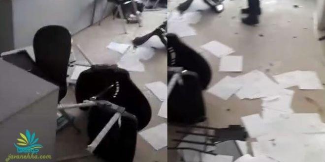حمله به دفتر اسنپ تاکسی در کرمان و تخریب وسایل + فیلم