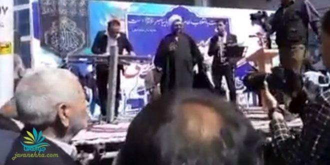 اعتراض خشمگینانه یک بیکار در راهپیمایی نمایشی ۲۲بهمن+ فیلم