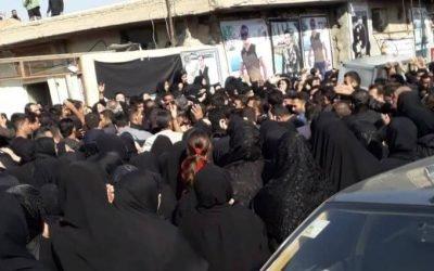 مراسم تشیع جنازه شهید سجاد رشیدی در اندیمشک با شلیک تیرهوایی + فیلم