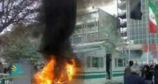 درگیری مردم و جوانان در اهواز و سنندج با نیروهای امنیتی و به آتش کشیدن موتور و کانکس مربوط به ناجا