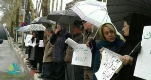 تجمع اعتراضی معلمان شهر سنندج مقابل استانداری