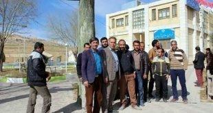 تجمع اعتراضی کارگران شهرداری و فضای سبز یاسوج