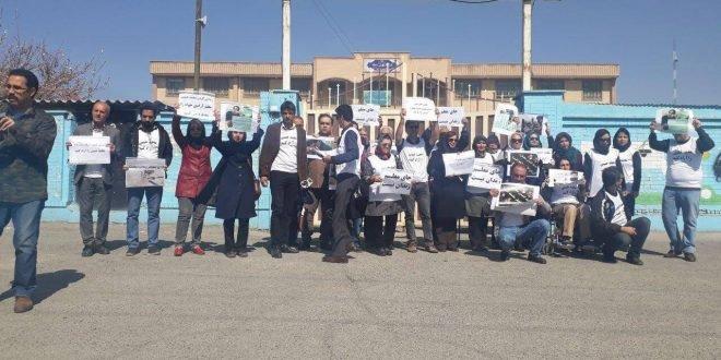 تحصن جمعی از معلمان در اعتراض به بازداشت محمد حبیبی