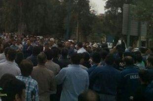 تظاهرات هزاران نفره کارگران گروه صنعتی ملی فولاد اهواز در خیابانها اهواز + تصاویر