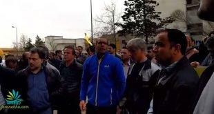 اعتراض خشمگینانه کارگران هپکو با شعار کارگر یپچاره اعدام باید گردد