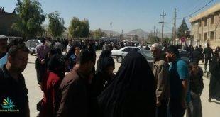 شورش مردم سرپل ذهاب به نوبخت و استاندار کرمانشاه و فرار ماموران از صحنه