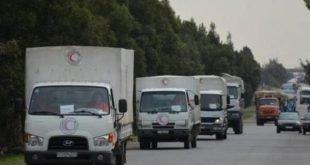 کامیونهای امداد رسان سازمان ملل متحد، دوشنبه ۱۴ اسفند بدون کمکهای پزشکی، ورود را به منطقه غوطه شرقی واقع در حومه شرق دمشق پایتخت سوریه آغاز کردند.
