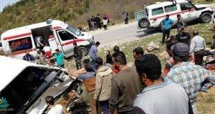 ۱۵ مجروح و یک کشته بر اثر واژگونی مینی بوس حامل دانشجویان