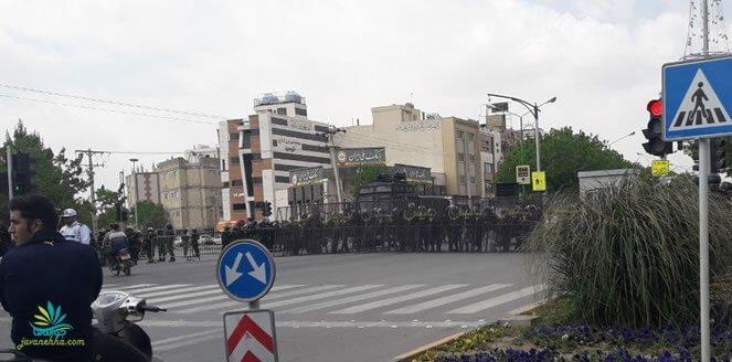 اعلام حکومت نظامی در اصفهان در ششمین روز متوالی تظاهرات مردم و کشاورزان + فیلم