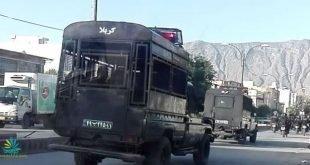 ورود نیروهای ضدشورش همراه با تجهیران به شهرکازرون برای مهار تظاهرات هزاران نفره