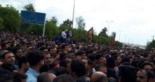 دومین روز تظاهرات هزاران نفره مردم کازرون با شعار هیهات من الذله