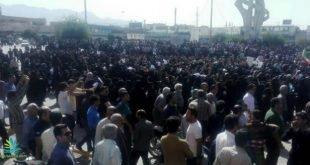 سومین روز تجمع هزاران نفره مردم کازرون با شعار نترسید نترسید ما همه با هم هستیم