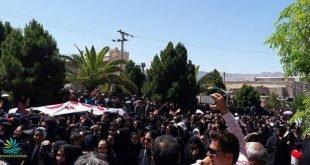 تظاهرات هزاران نفره مردم کازرون در مصلی با شعار وای به روزی که مسلح شویم