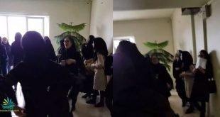 تجمع اعتراضی دانشجویان دختر دانشکده محیط زیست کرج