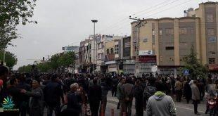 تظاهرات بزرگ مردم وکشاورزان اصفهان در اعتراض به بازداشت کشاورزان