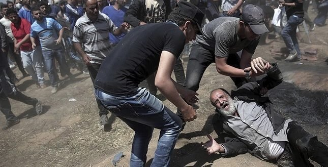 تظاهرات مردم فلسطین در نوار غزه در اعتراض به افتتاح سفارت آمریکا در بیت المقدس