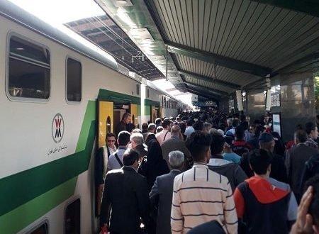 اعتصاب و تظاهرات کارکنان مترو تهران کرج و شعار مرگ بر دیکتاتور مسافران