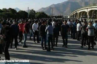 تجمع اعتراضی کارگران هپکو در حضور گسترده نیروهای امنیتی