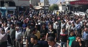 تجمع اعتراضی صدها نفره مردم کازرون با شعار شیر شیران آمده