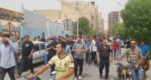 تظاهرات مردم آبادان در اعتراض به بی آبی و آب شور