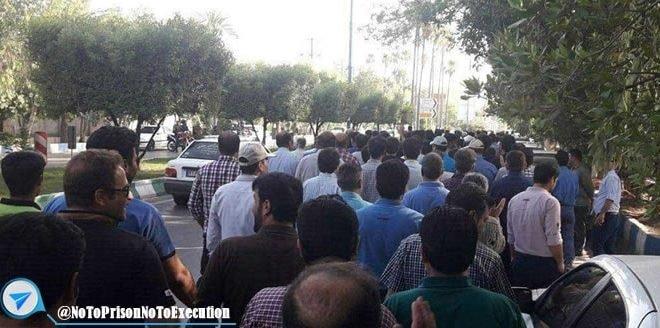 تجمع اعتراضی کارگران ملی فولاد اهواز