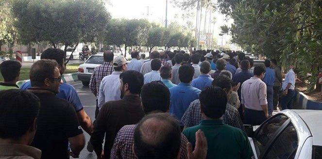 دستگیری ۵۰ تن از کارگران فولاد اهواز پس از افطار شب گذشته