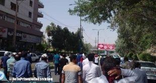 حمله به تجمع اعتراضی کارکنان گروه ملی فولاد اهواز