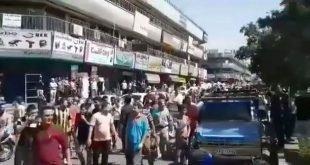 اعتصاب و تظاهرات در بازار آهن شادآباد با شعار نترسید نترسید