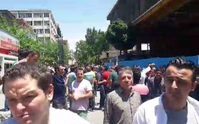 تظاهرات برزگ کفاشان در باغ سپهسالار تهران