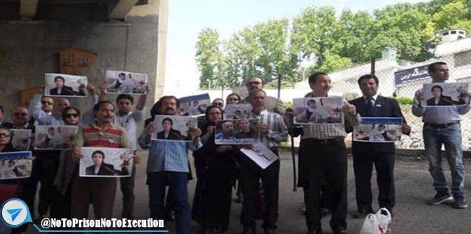 درگیری در مقابل زندان اوین و بازداشت چند تن از تجمع کنندگان