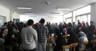 چهارمین روز تجمع دانشجویان دانشگاه تهران در اعتراض به صدور احکام سنگین برای دانشجویان