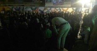 تظاهرات مردم برازجان با شعار مرگ بر دیکتاتور و فرار امام جمعه از دست مردم