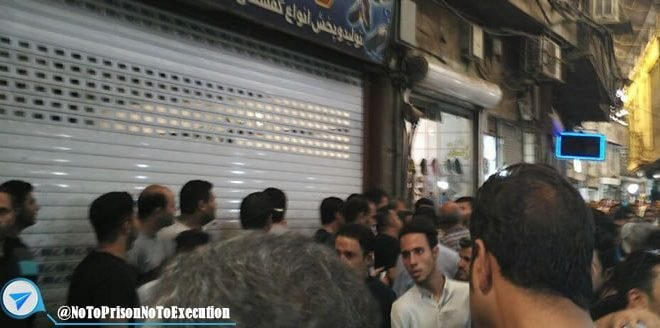 اعتصاب بازار کفاشان در تهران و پیوستن بازار منوچهر خوانی