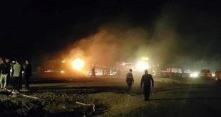 کشته شدن بیش از ۲۰ نفر در جریان تصادف مرگبار میان تانکر سوخت و یک اتوبوس مسافربری