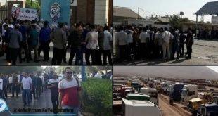 اعتراضات اقشار مختلف مردم در شهرهای مختلف در ماه اوت