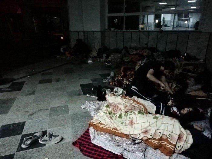 تحصن شبانه روزی دانشجویان دانشگاه نوشیروانی