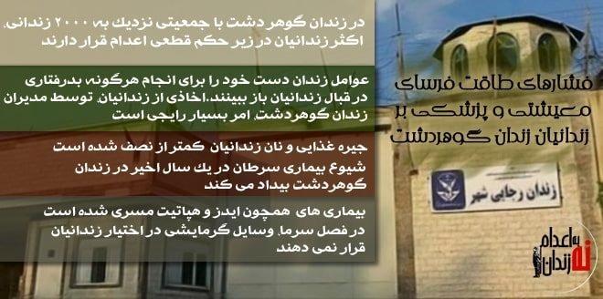 فشارهای طاقت فرسای معیشتی و پزشکی بر زندانیان زندان رجاییشهر کرج